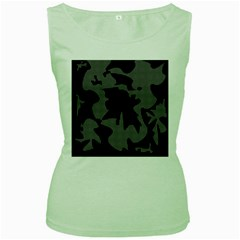 Decorative Elegant Design Women s Green Tank Top by Valentinaart