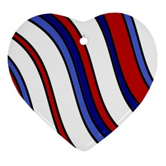 Decorative Lines Heart Ornament (2 Sides) by Valentinaart