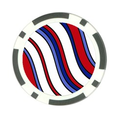 Decorative Lines Poker Chip Card Guards by Valentinaart