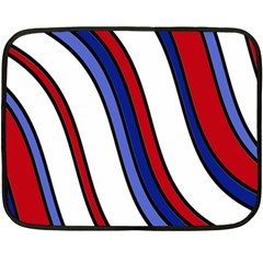 Decorative Lines Double Sided Fleece Blanket (mini)  by Valentinaart