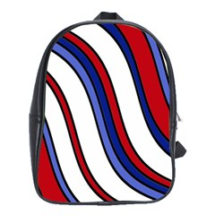 Decorative Lines School Bags(large)  by Valentinaart