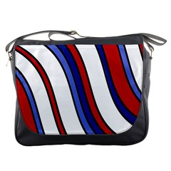 Decorative Lines Messenger Bags by Valentinaart