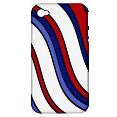 Decorative Lines Apple Iphone 4/4s Hardshell Case (pc+silicone) by Valentinaart