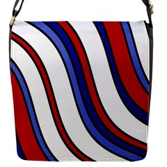 Decorative Lines Flap Messenger Bag (s) by Valentinaart