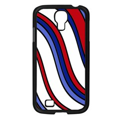 Decorative Lines Samsung Galaxy S4 I9500/ I9505 Case (black) by Valentinaart