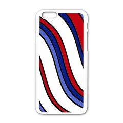 Decorative Lines Apple Iphone 6/6s White Enamel Case by Valentinaart