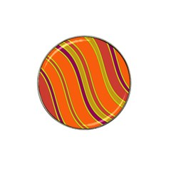 Orange Lines Hat Clip Ball Marker (10 Pack) by Valentinaart