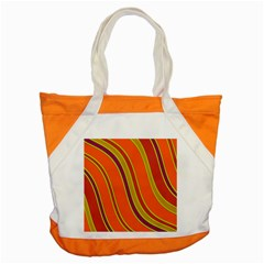 Orange Lines Accent Tote Bag by Valentinaart