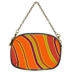 Orange Lines Chain Purses (one Side)  by Valentinaart