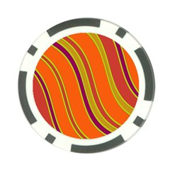 Orange Lines Poker Chip Card Guards (10 Pack)  by Valentinaart