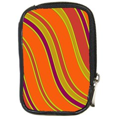 Orange Lines Compact Camera Cases by Valentinaart