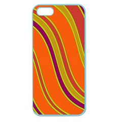 Orange Lines Apple Seamless Iphone 5 Case (color)