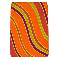 Orange Lines Flap Covers (l)  by Valentinaart