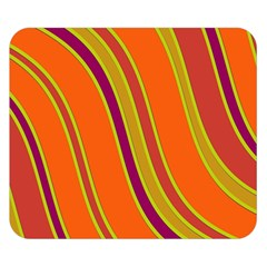 Orange Lines Double Sided Flano Blanket (small)  by Valentinaart