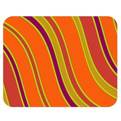 Orange Lines Double Sided Flano Blanket (medium)  by Valentinaart