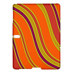 Orange Lines Samsung Galaxy Tab S (10 5 ) Hardshell Case  by Valentinaart