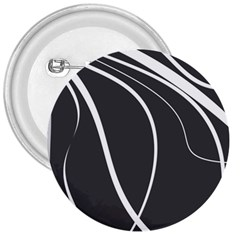 Black And White Elegant Design 3  Buttons by Valentinaart