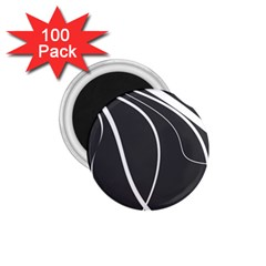 Black And White Elegant Design 1 75  Magnets (100 Pack)  by Valentinaart