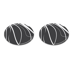 Black And White Elegant Design Cufflinks (oval) by Valentinaart