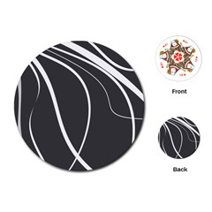 Black And White Elegant Design Playing Cards (round)