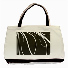 Black And White Elegant Design Basic Tote Bag by Valentinaart