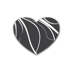 Black And White Elegant Design Heart Coaster (4 Pack)  by Valentinaart