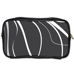 Black And White Elegant Design Toiletries Bags 2 Side by Valentinaart