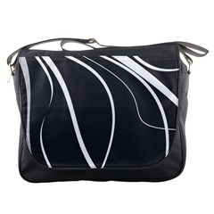 Black And White Elegant Design Messenger Bags by Valentinaart