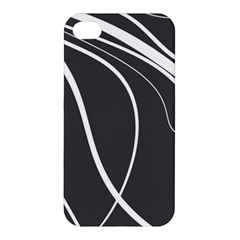 Black And White Elegant Design Apple Iphone 4/4s Premium Hardshell Case by Valentinaart