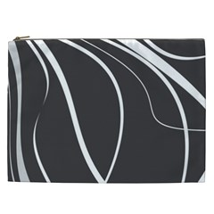 Black And White Elegant Design Cosmetic Bag (xxl)  by Valentinaart