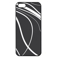 Black And White Elegant Design Apple Iphone 5 Seamless Case (black) by Valentinaart