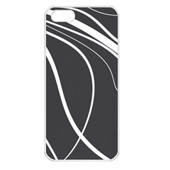 Black And White Elegant Design Apple Iphone 5 Seamless Case (white) by Valentinaart