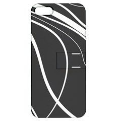 Black And White Elegant Design Apple Iphone 5 Hardshell Case With Stand by Valentinaart
