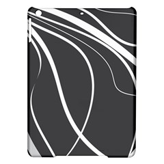 Black And White Elegant Design Ipad Air Hardshell Cases by Valentinaart