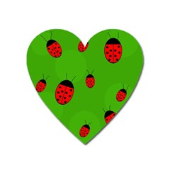 Ladybugs Heart Magnet by Valentinaart