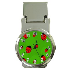 Ladybugs Money Clip Watches by Valentinaart
