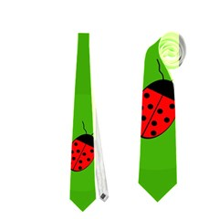 Ladybugs Neckties (two Side)  by Valentinaart
