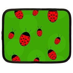 Ladybugs Netbook Case (large) by Valentinaart