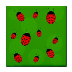 Ladybugs Face Towel by Valentinaart
