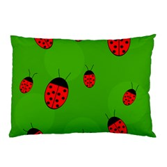 Ladybugs Pillow Case by Valentinaart