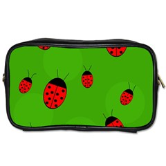 Ladybugs Toiletries Bags 2 Side by Valentinaart