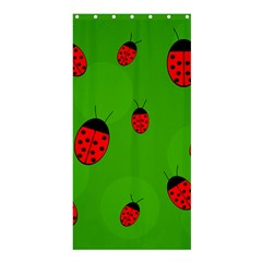 Ladybugs Shower Curtain 36  X 72  (stall)  by Valentinaart