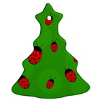 Ladybugs Christmas Tree Ornament (2 Sides) Front