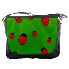 Ladybugs Messenger Bags by Valentinaart