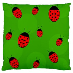Ladybugs Large Cushion Case (one Side) by Valentinaart
