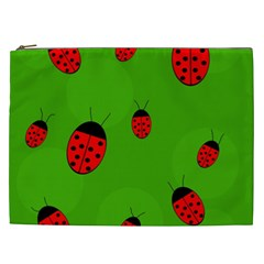 Ladybugs Cosmetic Bag (xxl)  by Valentinaart