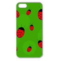 Ladybugs Apple Seamless Iphone 5 Case (clear) by Valentinaart