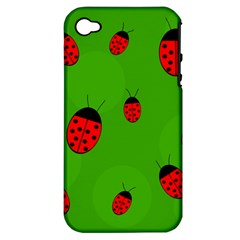 Ladybugs Apple Iphone 4/4s Hardshell Case (pc+silicone) by Valentinaart