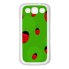 Ladybugs Samsung Galaxy S3 Back Case (white) by Valentinaart