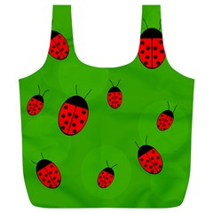 Ladybugs Full Print Recycle Bags (l)  by Valentinaart